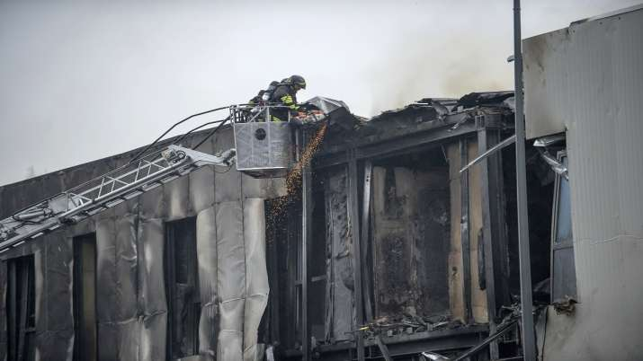 Italy: Plane crashes into building near Milan; 8 reported dead