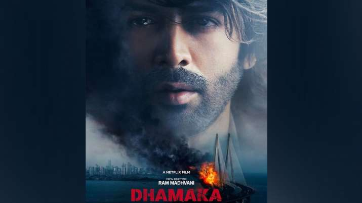 Dhamaka: Kartik Aaryan shares captivating poster as he announces trailer release date