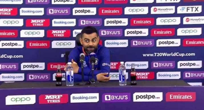 Virat Kohli at press conference after IND vs PAK clash