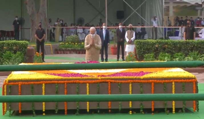 Bapu's principles give strength to millions: PM Modi pays
