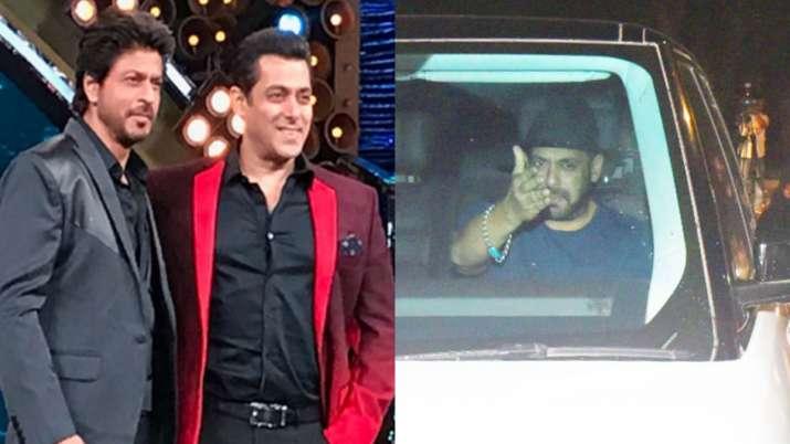 Salman Khan visits Shah Rukh Khan at Mannat after Aryan Khan's arrest by NCB in alleged drug case | Celebrities News – India TV