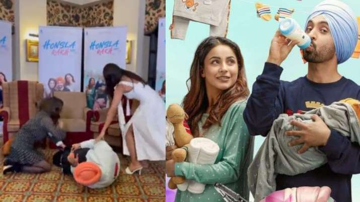 Fans happy as Shehnaaz Gill resumes work; Diljit Dosanjh shares hilarious video as cast recreates trailer