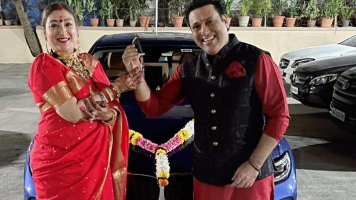 Govinda gifts wife Sunita a swanky BMW car as Karwa Chauth gift; see their love filled pics