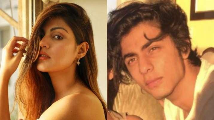 Rhea Chakraborty, Aryan Khan