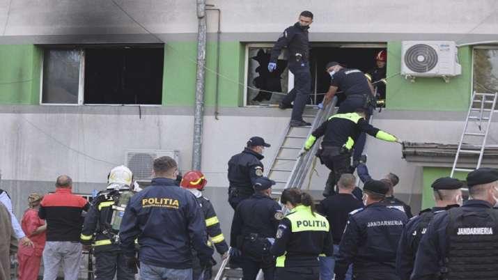 Romanian hospital blaze kills at least 7 COVID patients