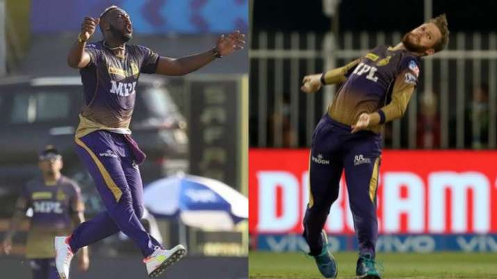 India Tv - Andre Russell (L) and Lockie Ferguson missed a number of league games for the KKR in the UAE leg.