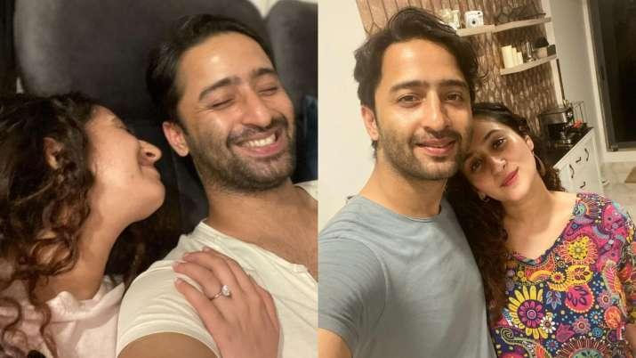Shaheer Sheikh, Ruchikaa Kapoor celebrate first wedding anniversary with mushy posts; Hina Khan showers love