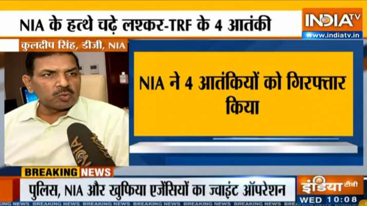 NIA arrests four terrorists in LeT-TRF raids across Jammu