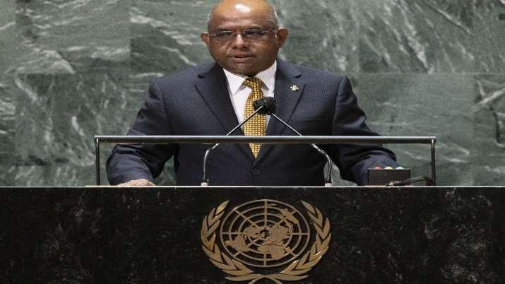 'I got Covishield from India': President of the 76th UN General Assembly Abdulla Shahid