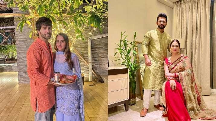 Varun Dhawan-Natasha Dalal to Rahul Vaidya-Disha Parmar, how stars celebrated their first Karwa Chauth
