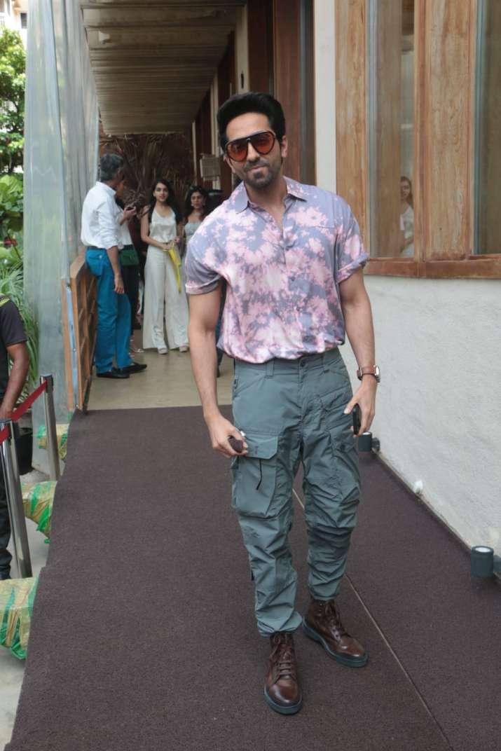 India Tv - Ayushmann Khurrana at Rakul Preet Singh's birthday party