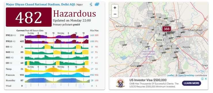 Delhi AQI today - India Tv