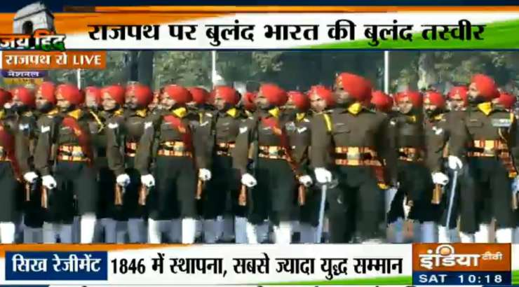 Indian defences forces display valour and might at Rajpath - India Tv