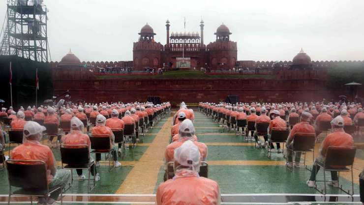 Sitting arrangements during the Independence Day Celebration 2020 at Red Fort - India Tv