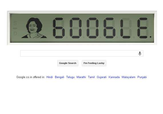 google doodle celebrates 84th birthday of shakuntala devi