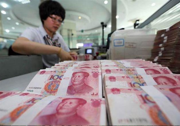 chinese currency continued sharp fall on third day