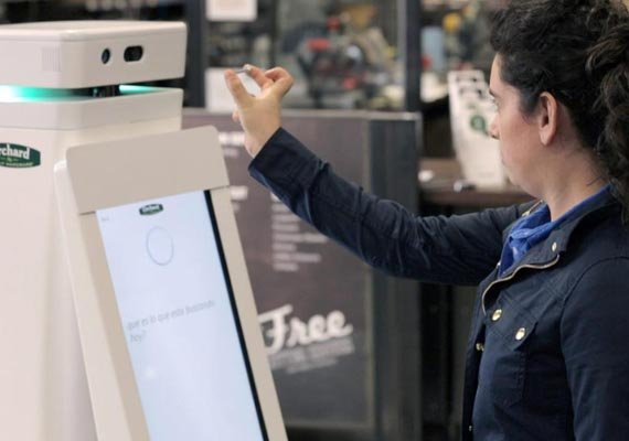 another store debuts customer service robots this time in