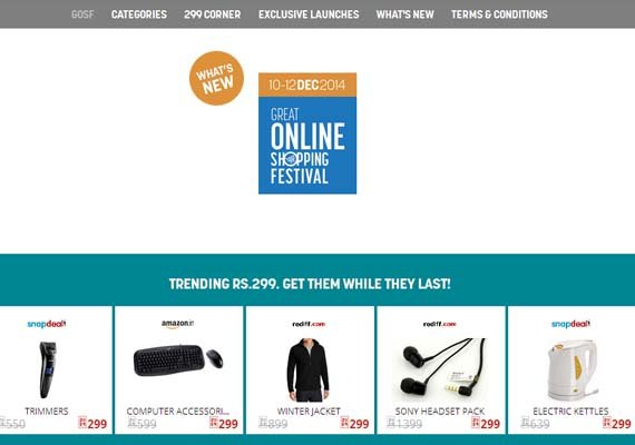 Google India's Great Online Shopping Festival (GOSF) begins