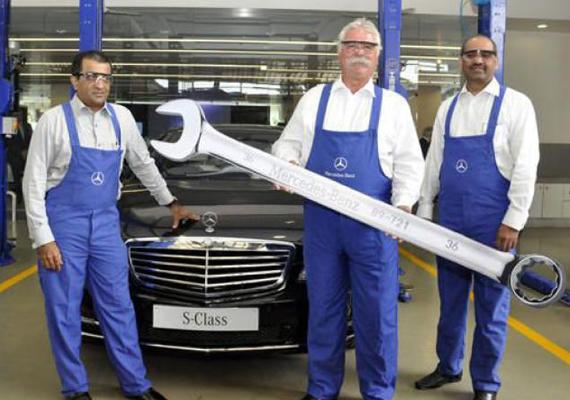 mercedes benz india opens largest workshop in mumbai