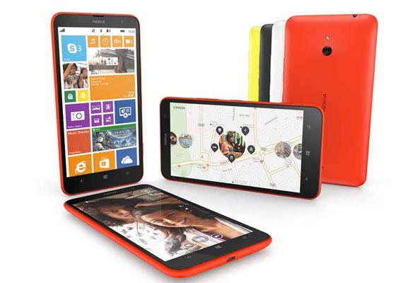 nokia lumia 1520 and lumia 1320 phablets with 6 inch