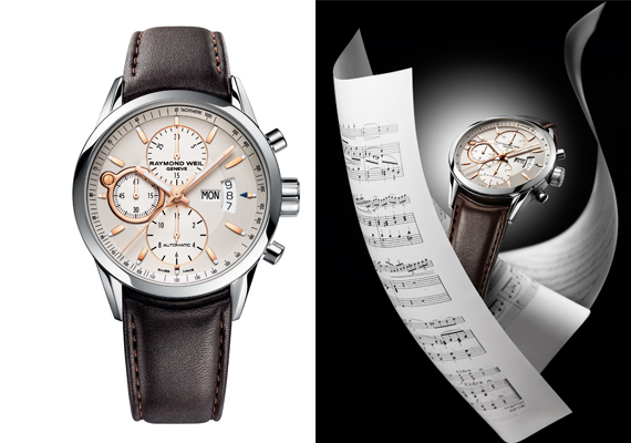 raymond weil launches freelancer steel rose gold class