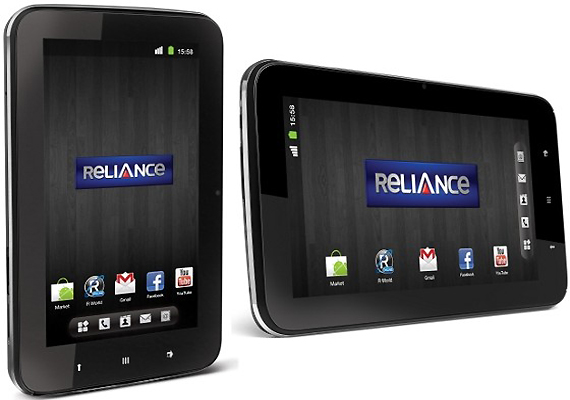 reliance communications unveils country first cdma tablet