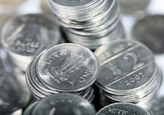 rupee up 32 paise against dollar in early trade