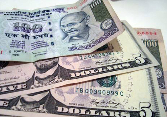 rupee down by 5 paise against dollar