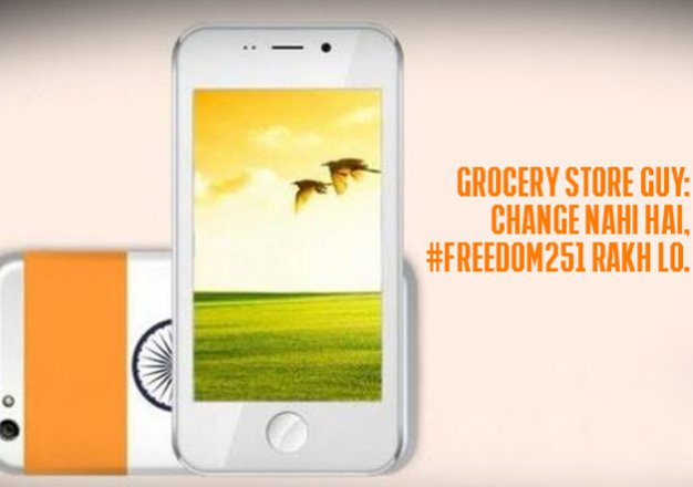 lol freedom 251 becomes butt of jokes on social media. here