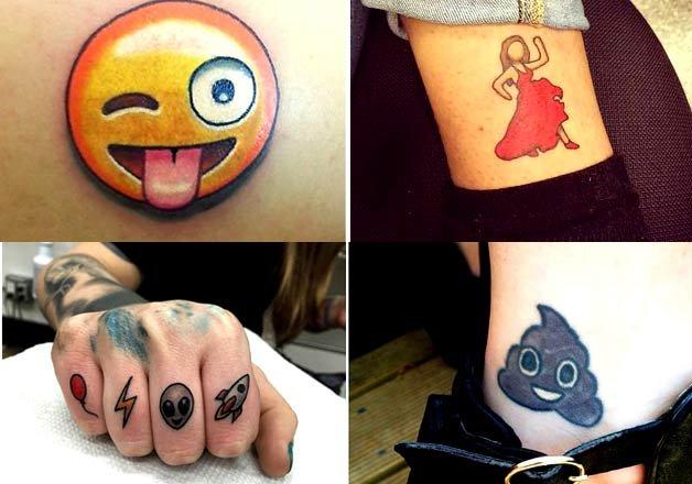 22 emojis tattoos