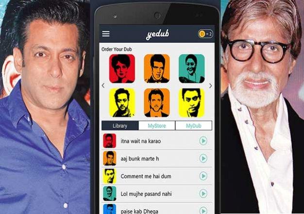 yedub app which will make amitabh salman speak your