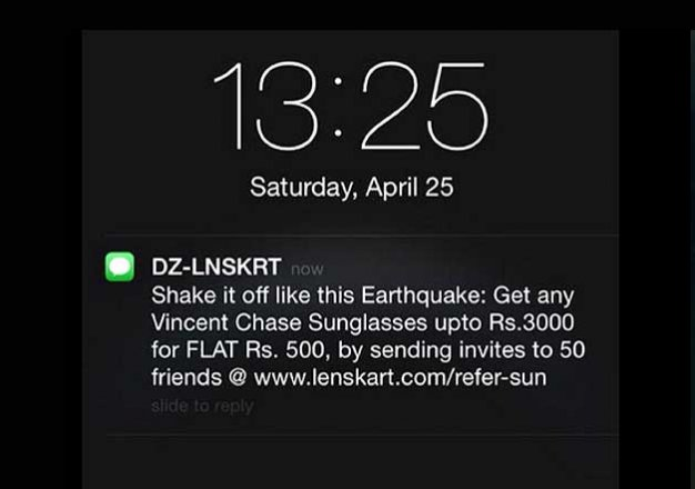 lenskart s jibe on nepal earthquake twitter reaction