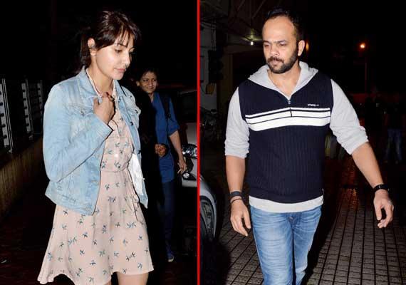 anushka sharma rohit shetty spotted watching movie together