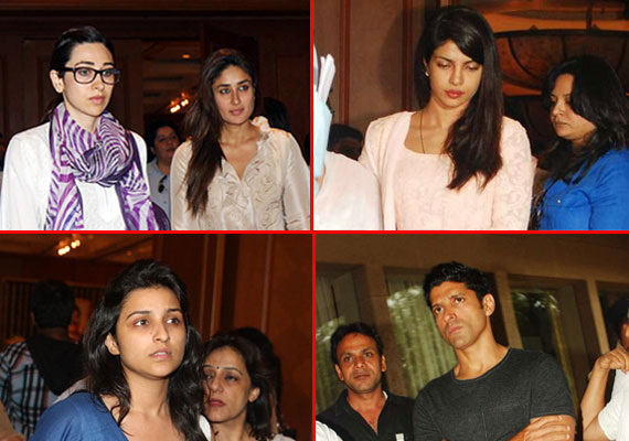 Bollywood stars converge at Priyanka Chopra's father's condolence
