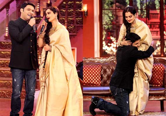 comedy nights with kapil rekha celebrates her birthday on