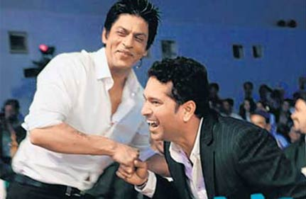 shah rukh made sachin dance