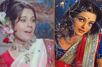ash works hard to get mumtaz look right