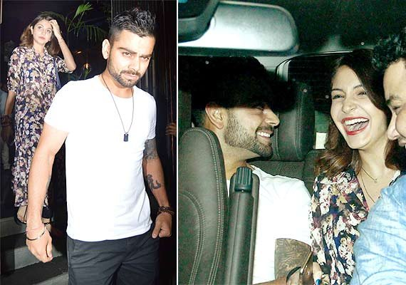 spotted again anushka virat comfortable in car together see