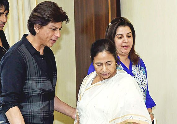 shah rukh khan feels enthused by mamata banerjee at hny