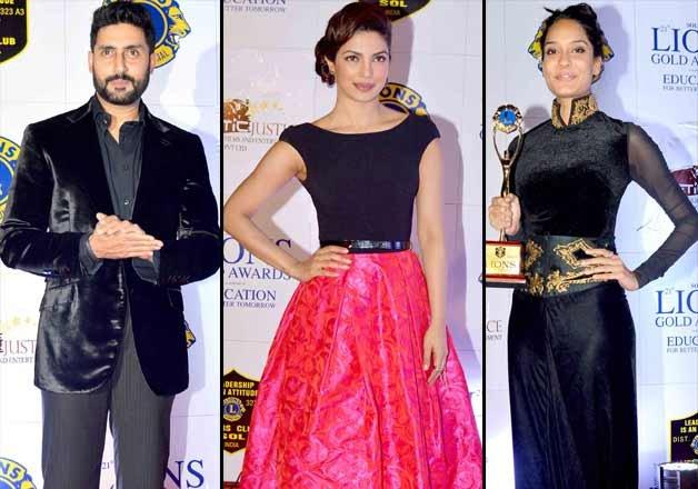 lions gold awards 2015 priyanka abhishek varun lisa shimmer