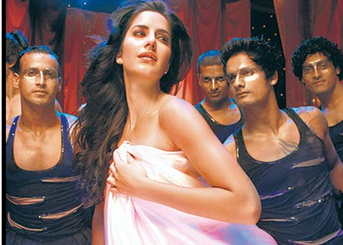 Katrina Drapes in White Satin For Sheila Ki Jawani | Bollywood ...