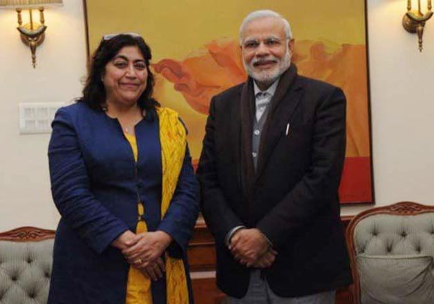 british filmmaker gurinder chadha meets pm narendra modi