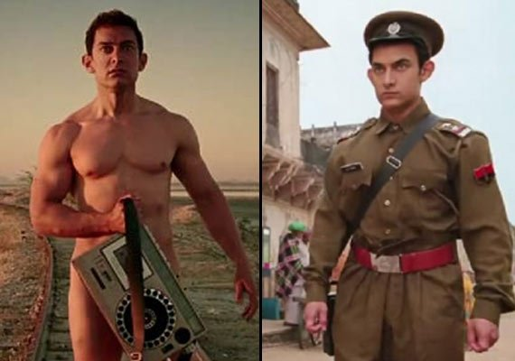 aamir khan and his nine different avatars in pk view pics