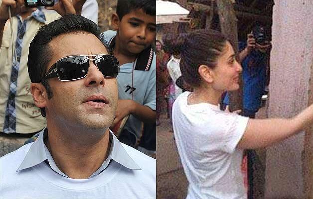 salman khan makes kareena kabir himesh paint an entire