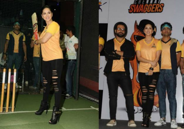 sunny leone launches her chennai swaggers squad for box