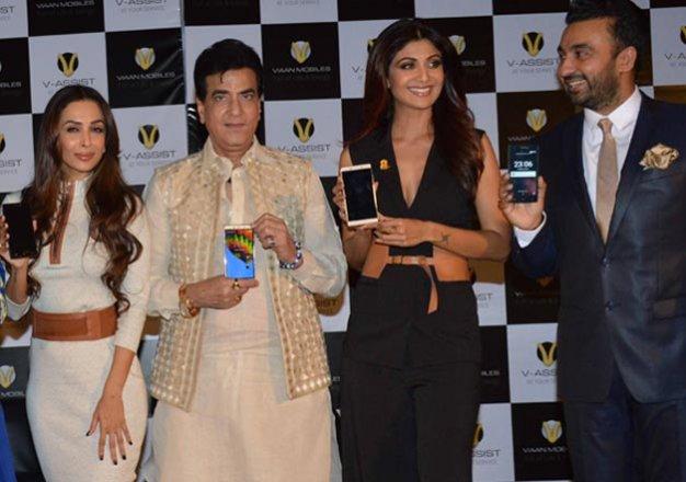 shilpa shetty and raj kundra launch viaan mobiles named