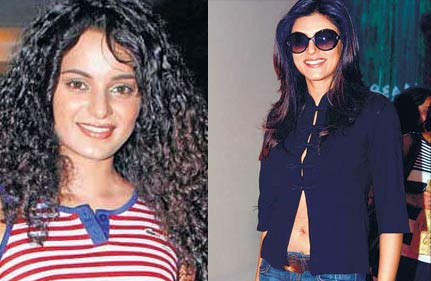 sushmita gives her t shirt to kangana