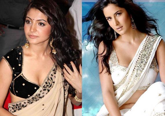 katrina or anushka who ll drape white chiffon sari