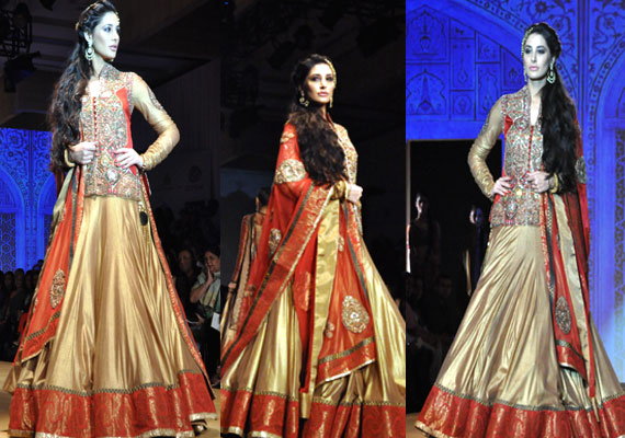india bridal fashion week nargis fakhri walks for ashima