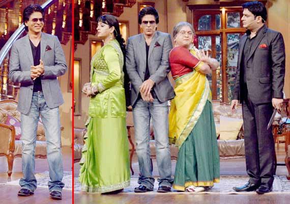 shah rukh khan promotes chennai express on comedy nights